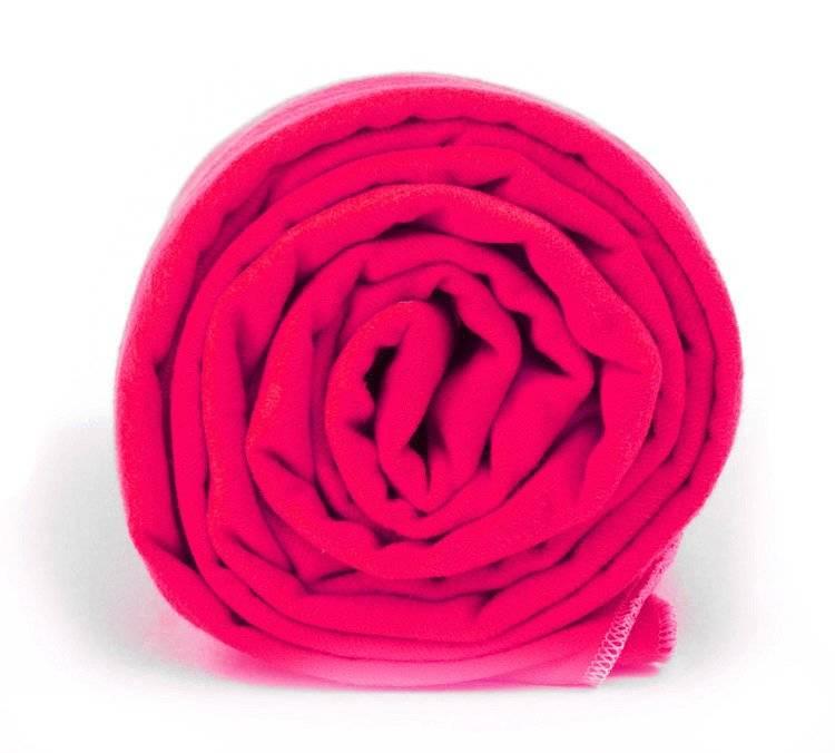 Dr.Bacty Ręcznik szybkoschnący Basic 30x50 - neon różowy
