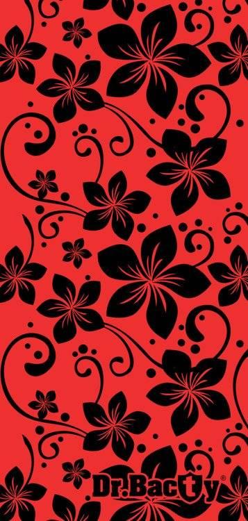 Ręcznik szybkoschnący dla dziecka 60x130 - Kwiaty Czerwony