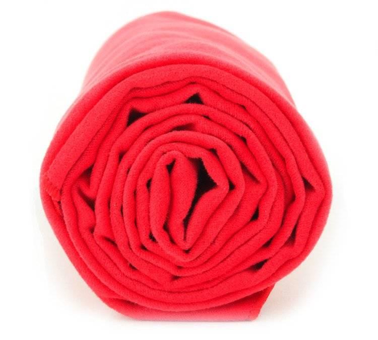 Ręcznik szybkoschnący na basen 70x140 cm - Dr. Bacty Czerwony